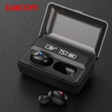 DACOM T8 Wireless Headphones Bass Bluetooth 5.0 Earphone Waterproof Mini True Tws Earbuds with Power Bank LED Display PK i12 tws