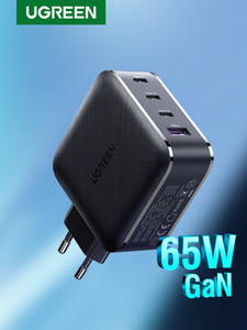 Ugreen 65W GaN Charger 4 Port Quick Charge 4.0 3.0 Type C PD USB Charger QC 4.0 3.0 Wall