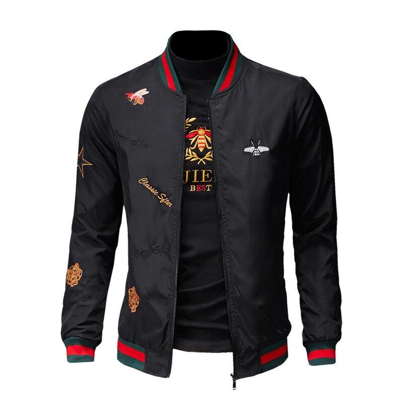 Men Bomber Jacket Thin Slim Long Sleeve baseball Jackets Windbreaker Zipper Windbreaker Jacket Male Outwear Brand Clothing Y278 5