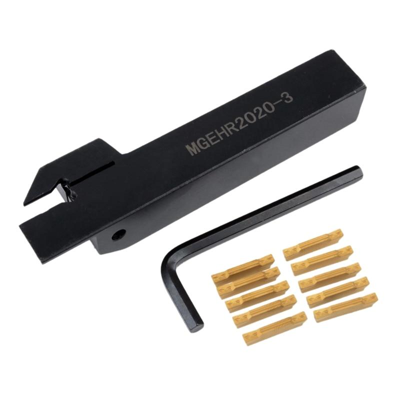 MGEHR1616-3 Lathe Turning Holder Boring Bar /& 10pcs MGMN300 Insert Set