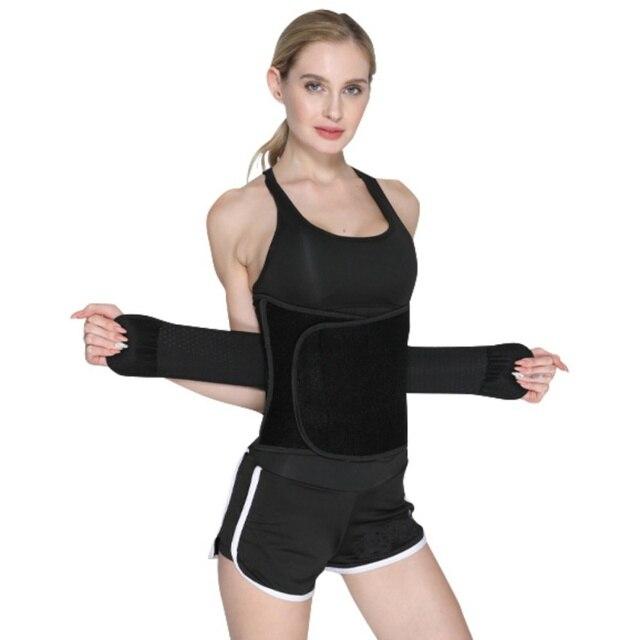 Women Fitness Running Waist Belt Cincher Trimmer Back Support Sweat Crazier Slimming Body Shaper Girdle Belt Weight Loss