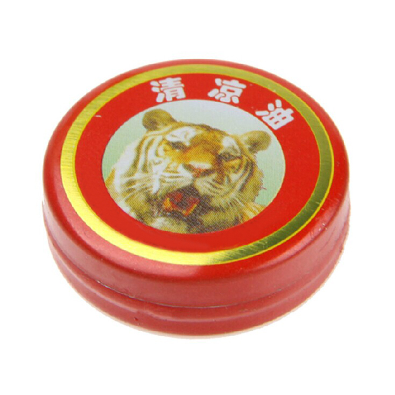 10Pcs Tiger Head Menthol Balm Refreshing Relief Headache Oil Chinese Herb Medicine Ointment for Headache Dizziness Insect Sting image