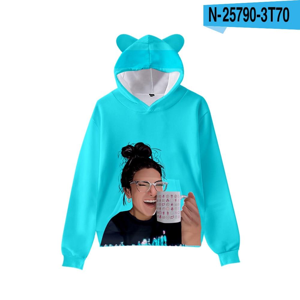 3D Print Charli D'Amelio Hoodies Boys/Girls Cat ears Hip hop Kpop Sweatshirts Hooded Autumn Winter Charli Damelio Merch Tops 9