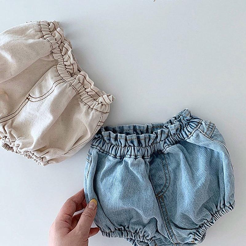 2020 Baby Boys Denim Shorts Infant Toddler Baby Girls PP Shorts Diaper Cover Denim Shorts Kids Jeans Pant Bloomers Baby Shorts 4