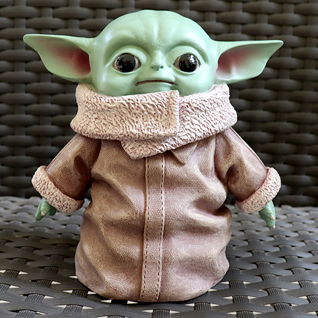 15cm Star Wars Plush Yoda Baby Ornament The Mandalorian Yoda Baby Plush Doll Lifelike Perfect Model Toys