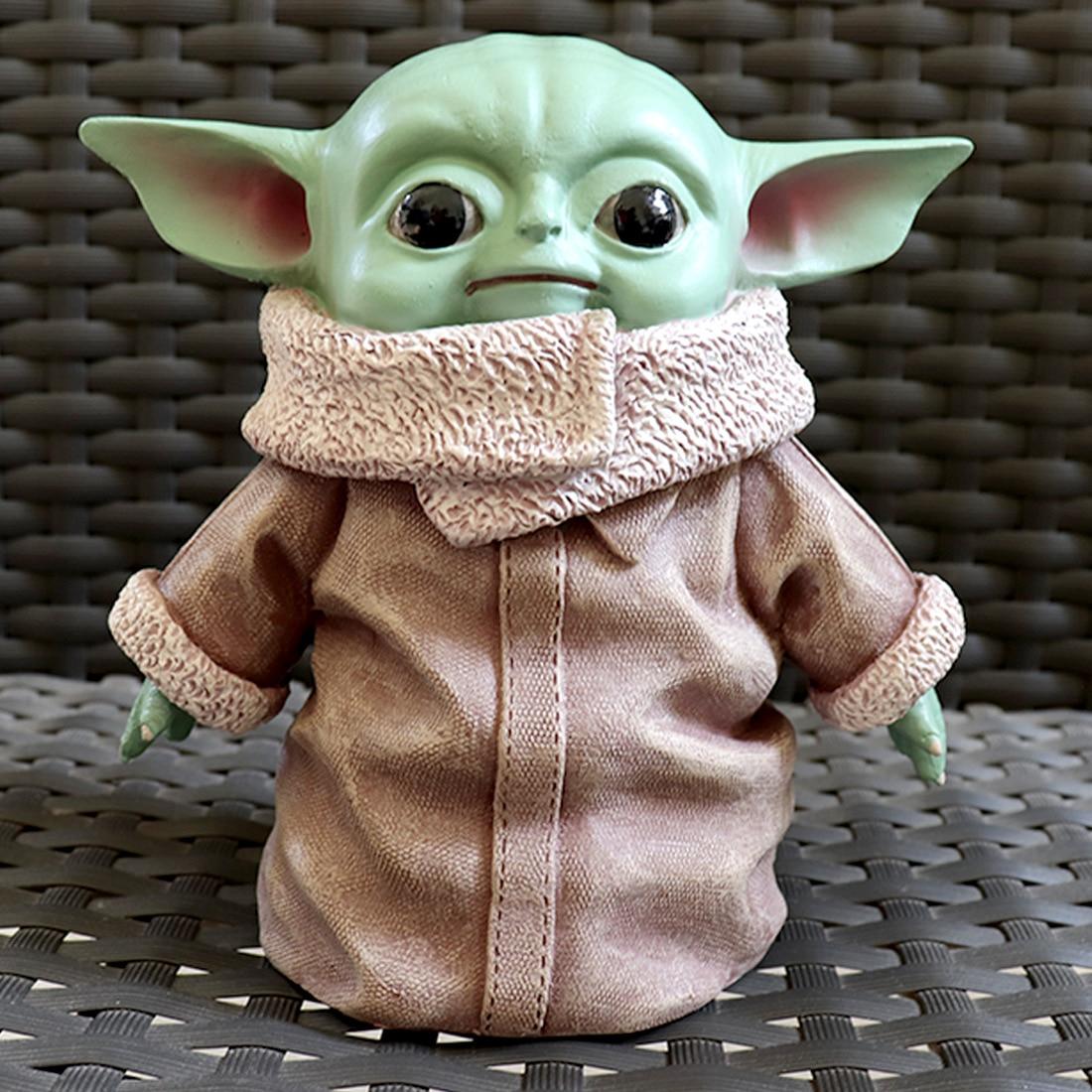 15cm Star Wars Plush Yoda Baby Ornament The Mandalorian Yoda Baby Plush Doll Lifelike Perfect Model Toys