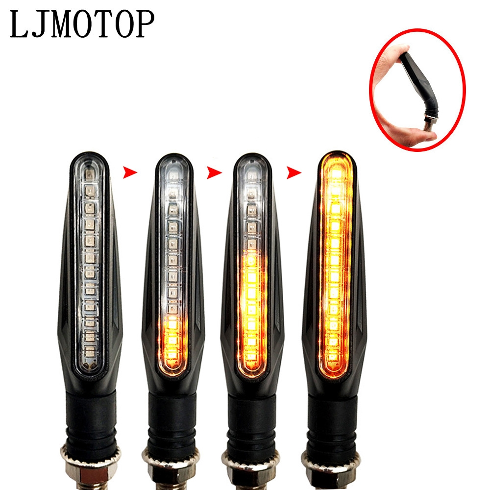 Universal LED Motorcycle Turn Signal Lights Flashing Signal Lamp Accessories For TRIUMRH TIGER 800/XC TRophy/SE TT 600