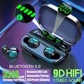Беспроводные Bluetooth наушники Hembeer с микрофоном, водонепроницаемые наушники 3500 мАч, HIFI стерео гарнитура с шумоподавлением, наушники-вкладыши