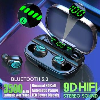 Hembeer słuchawki bezprzewodowe z Bluetooth z mikrofonem 3500mah słuchawki wodoodporne radio HIFI słuchawki z redukcją szumów słuchawki douszne