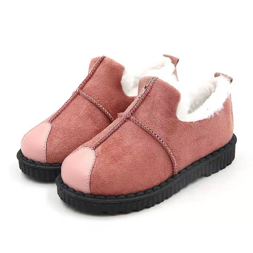 Toddler Kids Fur Lined Snow Ankle Boots Sport Slip On School Warm Flat Shoes UK