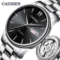 CADISEN – reloj automático de hombre, cronógrafo mecánico japonés NH36A con fecha, masculino