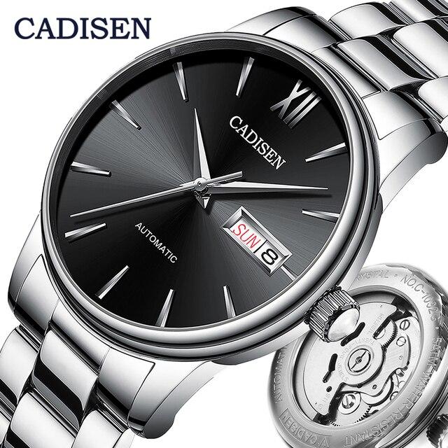 CADISEN Men Watch Automatic Mechanical Watches Japan NH36A Role Date Week Top Luxury Brand Wrist watch Clock Relogio Masculino