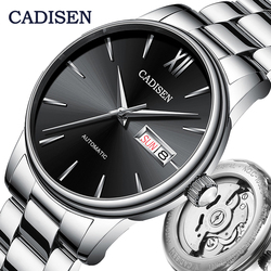 CADISEN Men Watch Automatic Mechanical Watches Japan NH36A Role Date Week Top Luxury Brand Wrist watch Clock Relogio Masculino