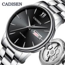 CADISEN zegarek męski automatyczne zegarki mechaniczne japonia NH36A rola data tydzień Top luksusowa marka zegarek na rękę zegar Relogio Masculino
