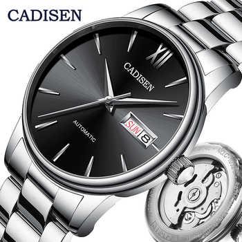 Reloj Automático CADISEN para hombre, reloj mecánico NH36A japonés, fecha de función, semana, reloj de pulsera de lujo de marca, reloj Masculino