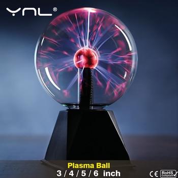 Novelty Magic Crystal Plasma Ball Touch Lamp 220V LED Night Light Child Nightlight Birthday Christmas Kids Decor Gift Lighting 1