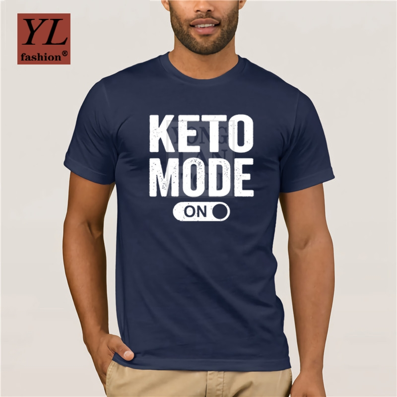 Keto Mode On T Shirt Latest Personality Fit Great Tshirt Men Summer Style Leisure Cotton Pop