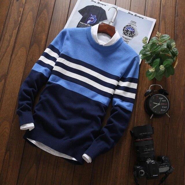 Мужской трикотажный свитер в офисном стиле на каждый день 5