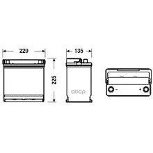 Аккумуляторная Батарея 45ah Deta Power 12 V 45 Ah 330 A Etn 0(R) B1 218x133x223mm 11kg DETA арт. DB450