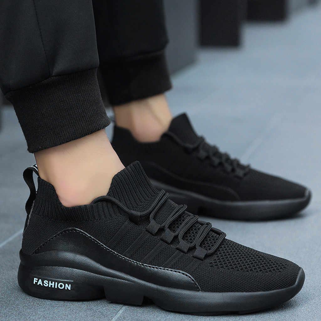 Wygodne obuwie codzienne para oddychające trampki z siatką mężczyźni lekkie, amortyzujące, lekkie, duże obuwie