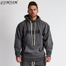 Casual Street Wear Men's 2019 Fall Fashion Men's Hoodie Cotton Sports Pullover Jogger Muscle Men Fitness Sportswear Brand Men's