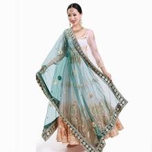 Scarf Indian Sari Pakistan-Clothing Ethnic Silk Dupattas Women Muslim Shawl Hijab Head