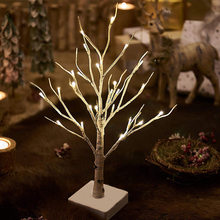 60CM Birch Tree Light Christmas regron deco table lamps Silver LED Modern Indoor Lamp Landscape Night D25
