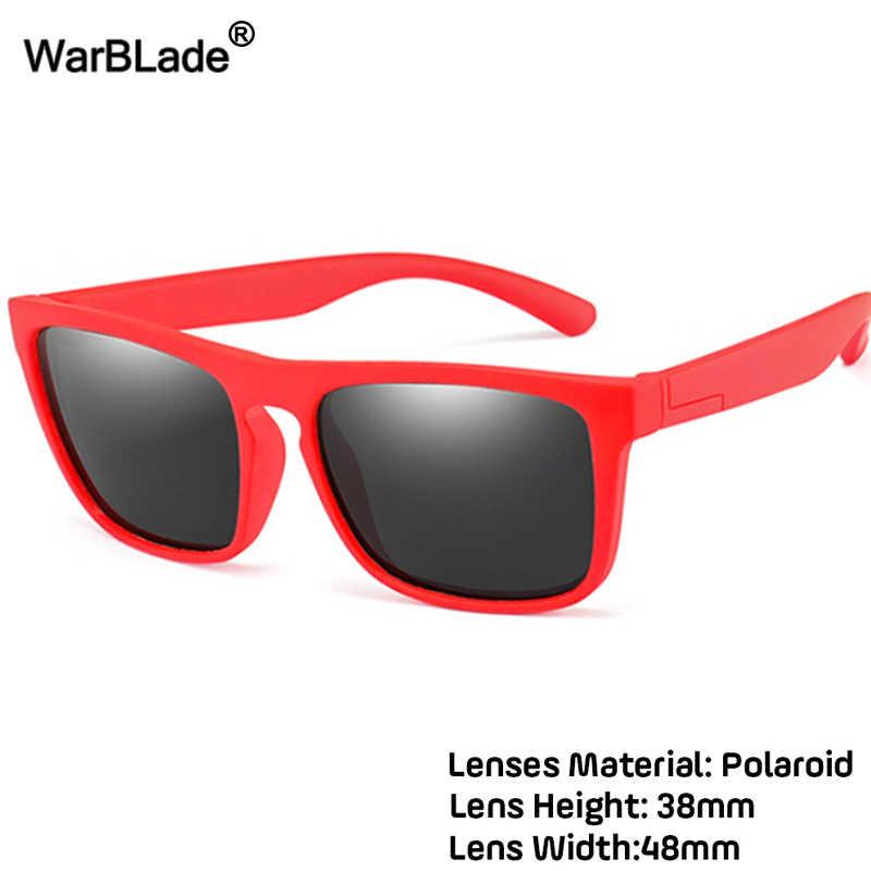 WarBlade ילדים משקפי שמש בנות בני ילדי מקוטב שמש משקפיים סיליקון בטיחות כיכר משקפיים תינוק משקפי UV400 Oculos