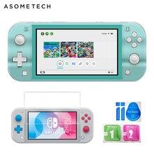 Жесткий Чехол для ПК с кристаллами для Nintendo Switch Lite, прозрачный чехол для Nintendo Switch Mini, закаленное стекло, пленка NS