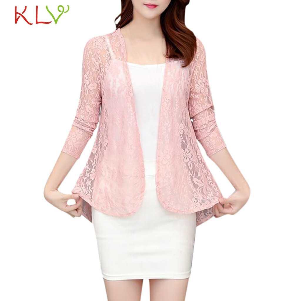 Женская куртка, кружевной Цветочный кардиган с длинными рукавами, солнцезащитный для вечерней вечеринки, большие размеры 2019, верхняя одежда, Casaco Feminino, пальто для девочек 19Ag