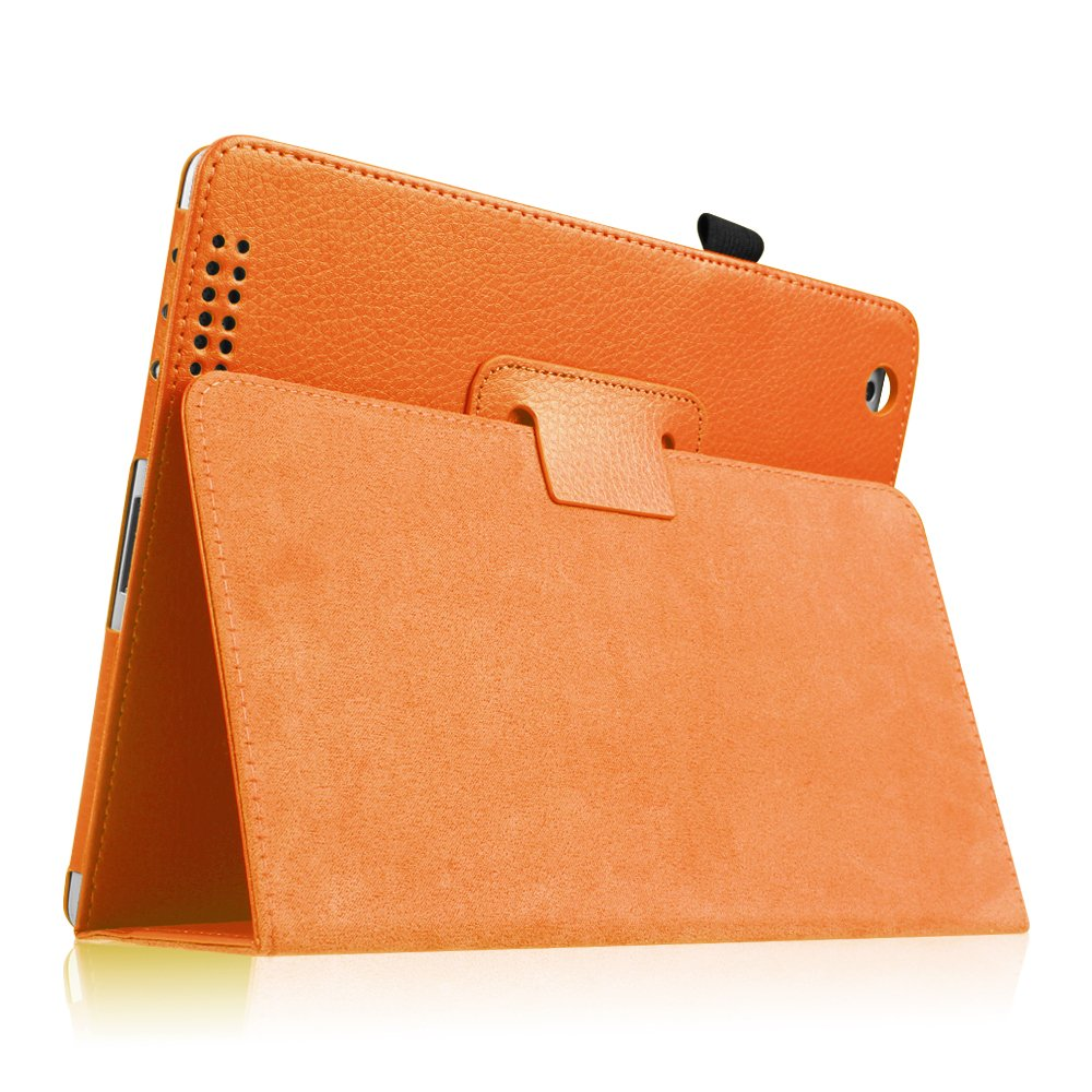 For IPad 4 Case Model A1458 A1459 A1460 Folio Flip PU Leather Cover For IPad 4 With Retina DISPLAY IPad 2 & 3 Pencil Holder Case