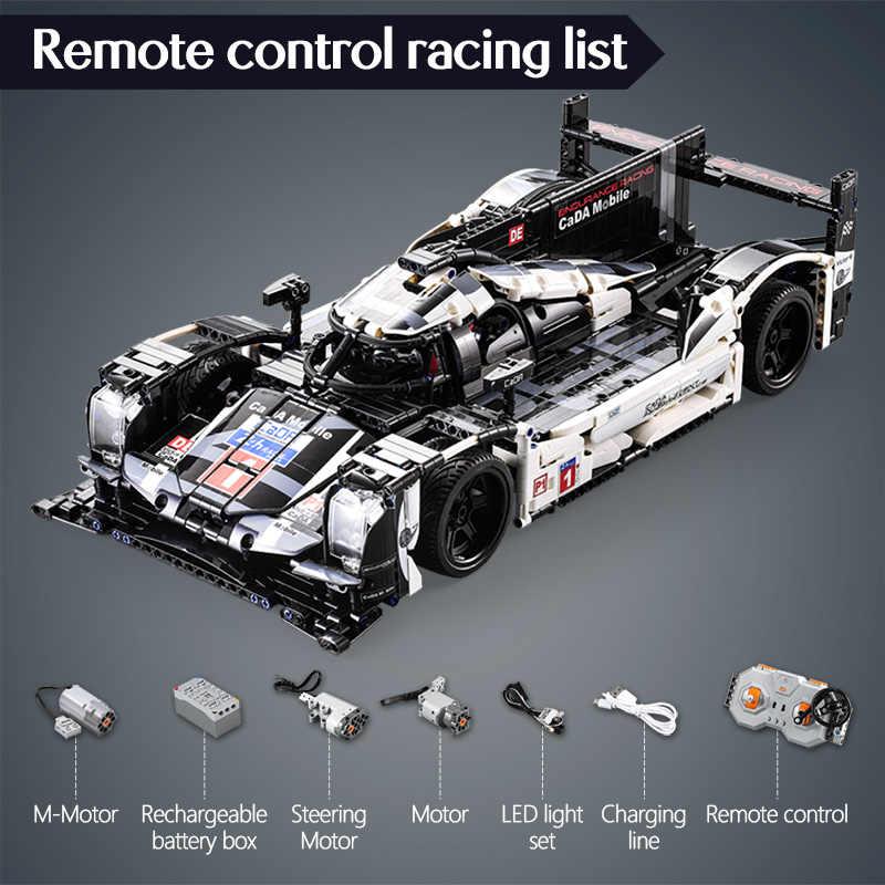 Cada 1589PCS RC/RC Endurance Racingรถบล็อกอาคารสำหรับTechnic MOCชุดรีโมทคอนโทรลของเล่นสำหรับเด็ก