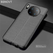 For Huawei Mate 30 Case Soft Silicone Luxury Leather Anti-knock Cover Mate30 BSNOVT