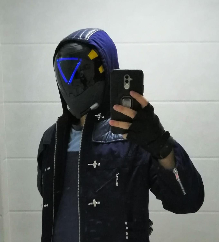 Máscaras de Pele com Led Capacete para Cosplay Máscara com Luz sem Bateria Jogo Picanço Luminoso Traje Arylic ow Ana