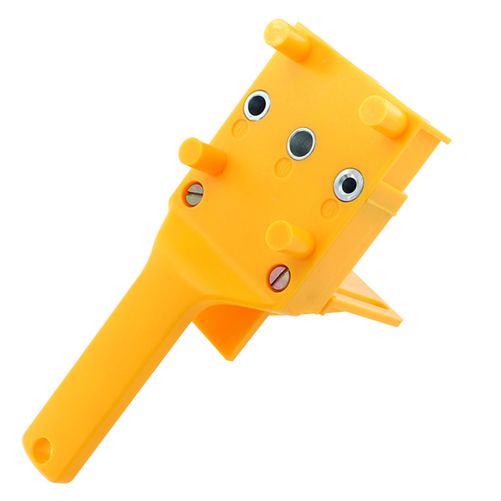 Quick Woodworking Tool Plastic 3 Pins Accurate Dowel Joints Mini Orange With Baffle Doweling Jig Self-centers Drill Locator
