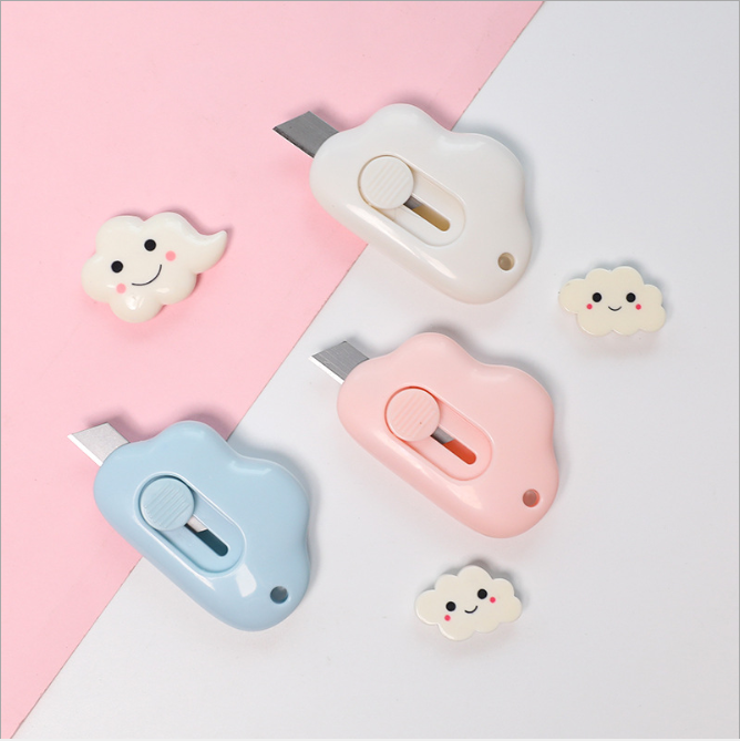 2pcs Pen Knife Paper Cutter Utility Knife Cleaver Metal Box Cutter Pocket Knife Craft Knife Cute Girl School Supplies Stationery