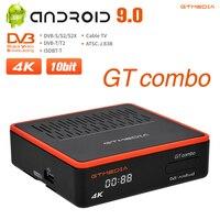 2021 GTMedia GT Combo Dual-core 4K DVB-S2/T2/C TV BOX Android 9,0 Satellite Empfänger decoder Mit WiFi BT 4,1 Ccam Voice control