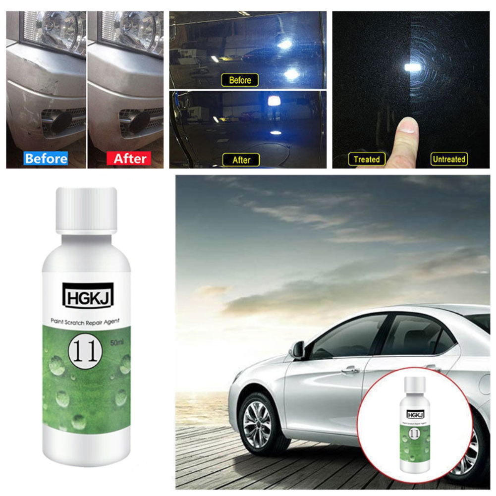 HGKJ 50ML Car Paint Scratch Repair Agent Polished Wax Car Beauty Tool Fix It Pro Scratches Remover Car