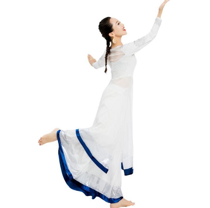 India Sarees Costume Ethnic Style Kurtas Woman Skinny Performance Dance Suits Top Skirt Scarf