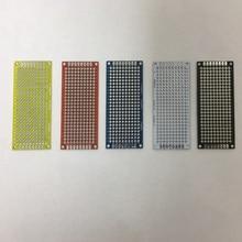 7*9cm 7x9cm 1.6mm d'épaisseur Double deux côtés rouge bleu blanc noir jaune Fiber de verre étain pulvérisation FR4 trou soudure Test universel carte PCB