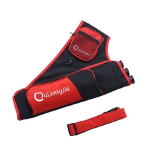 цены 3-Tube Bow Bag Archery Quiver Arrows Carry Bag Portable Arrows Bag Accessories Red