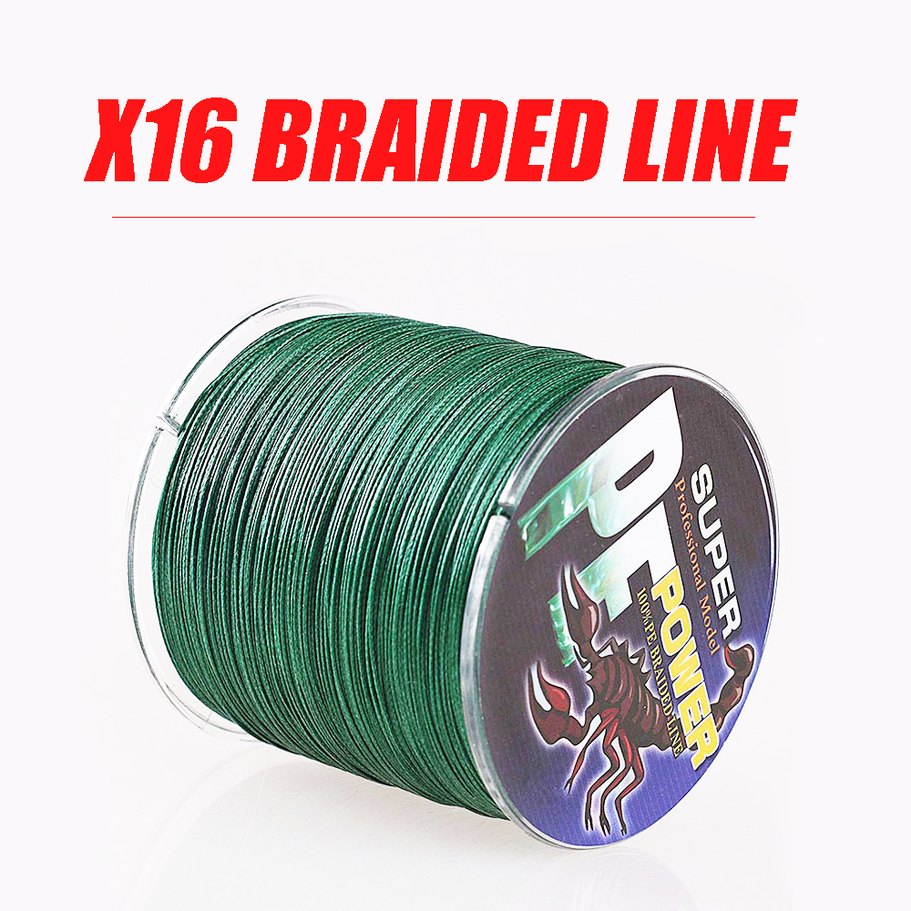 DORISEA 16 Strands 100M / 109Yards Super Strong Material from Japan 0.16MM-2.5MM 100% PE Braide Multifilament Fishing Line