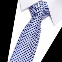 Шелковый галстук тощий 7,5 см цветочный галстук Высокая мода клетчатые галстуки для мужчин тонкий хлопковый галстук галстуки мужские gravatas
