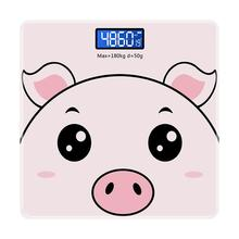 1pc Home Smart Multifunctional Weighing Scale for Adults Children (Pink)