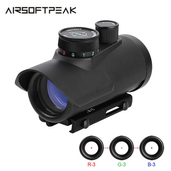 цена на Airsoft Red Dot Sight Holographic 1 x 30mm 11mm & 20mm Weaver Picatinny Rail Mount Rifle Scope Sight Hunting Shooting 3 Colors