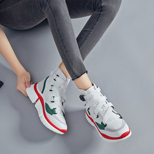 Image 3 - Lucyever femmes mode bottines 2019 automne hiver confortable travail chaussures femme chaussures plates plate forme chaussures baskets hautes