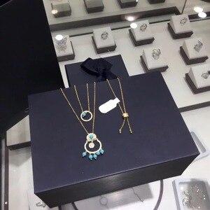 Image 5 - 2020 nuovo arrivo Marocco verde collana di perle di cristallo di marca originale elegante delicata collana della ragazza delle donne