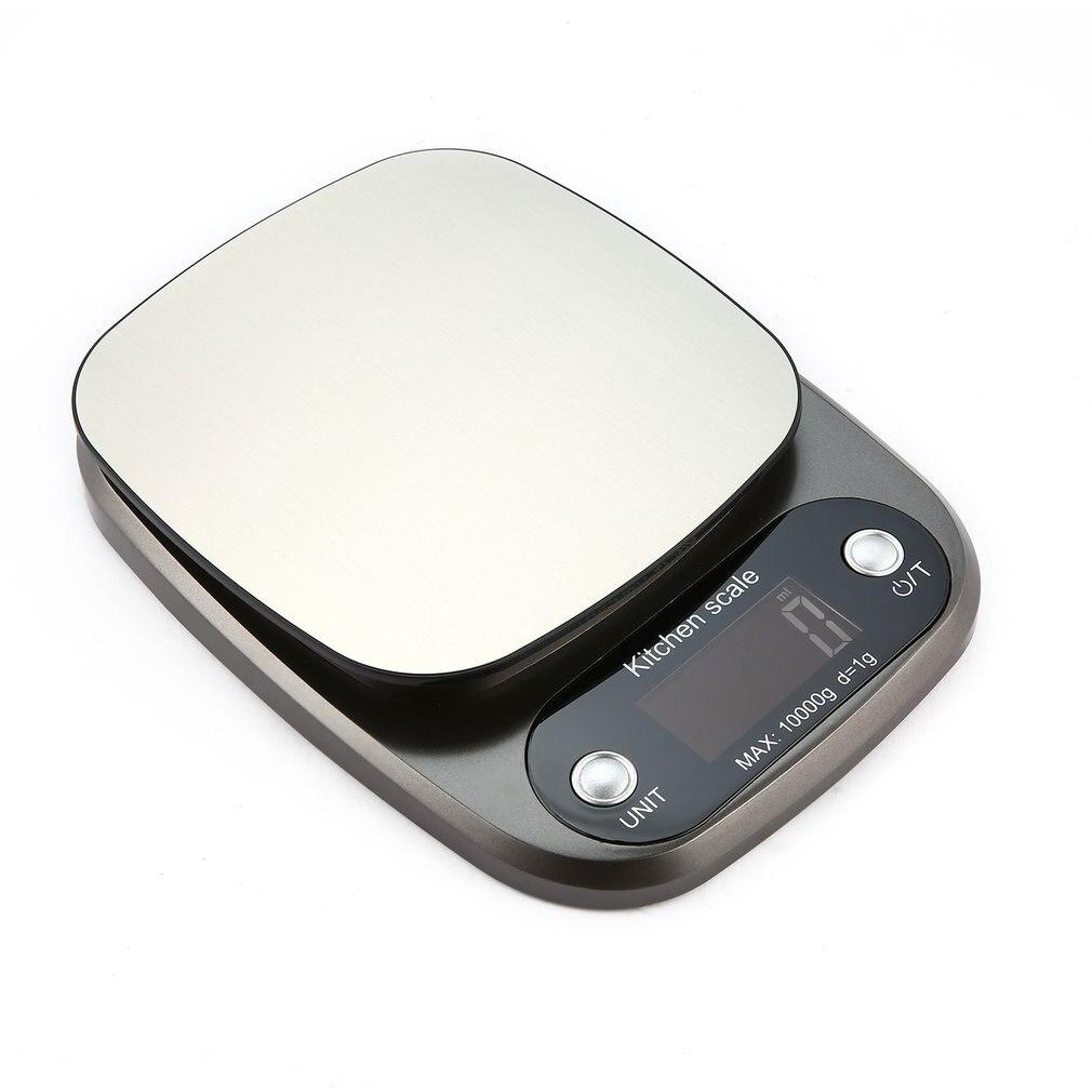 Цифровые весы 10 кг/0,1 г, высокоточные весы из нержавеющей стали, продажа, ЖК-дисплей, карманные весы для кухни, многофункциональные-1