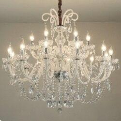Luksusowe nowoczesne kryształowe żyrandole do salonu K9 żyrandole oświetlenie jasny kryształ światła wiszące oprawa dekoracji