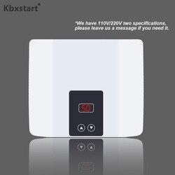 Elektrische Tankless Wasser Heizung 5500W für Heißer Wasser Heizung Küche Bad Dusche Wand oder Boden Montiert Kann Einstellen Temperatur